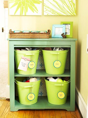 Paint Buckets and Use Them to Store Toys
