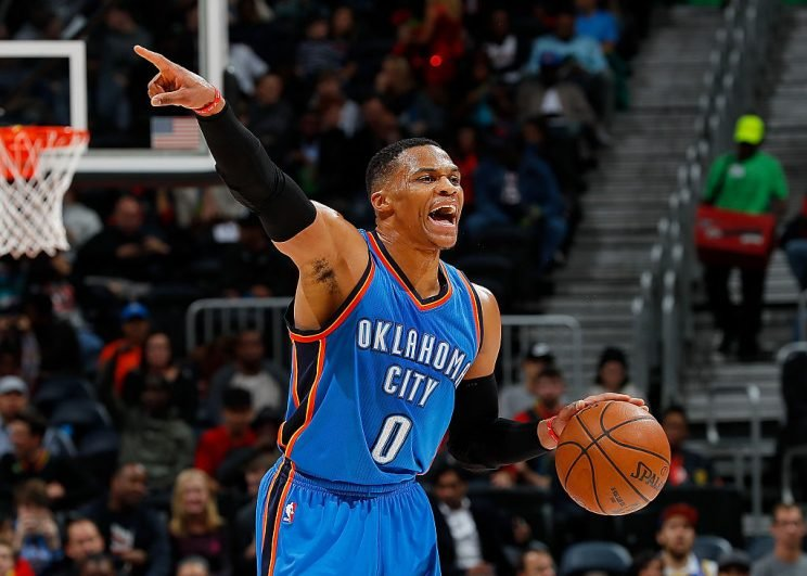 Russell Westbrook highlights this week's look at recent risers and fallers in fantasy hoops (Getty Images)