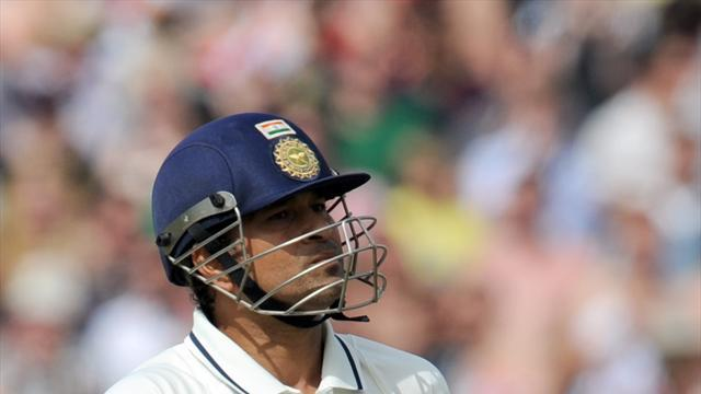 Cricket - Sachin out but India make progress