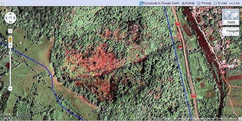 Map of Deforestation in Romania from OSM