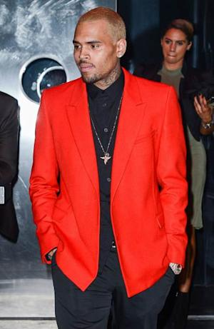 Chris Brown leaves the 'PUNK: Chaos To Couture' Costume Institute Gala after party at the Standard Hotel on May 6, 2013 in New York City -- Getty Premium