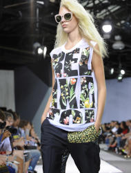 The Phillip Lim Spring, 2013 collection is modeled during Fashion Week, Monday, Sept. 10, 2012, in New York. (AP Photo/Louis Lanzano)
