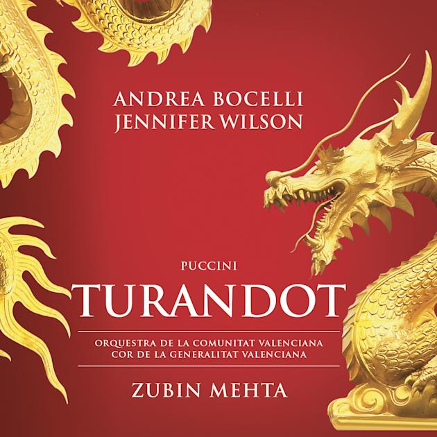 """This CD cover image released by Universal Music Classics/Decca/Sugar shows Andrea Bocelli, Puccini's """"Turandot."""" (Universal Music Classics/Decca/Sugar via AP)"""