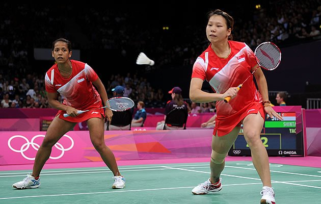 Singapore's Yao Lei and Shinta Mulia Sari lost in their opening group match (Getty)