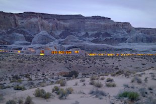 Amangiri is a 34-suite resort nestled in a rocky valley.