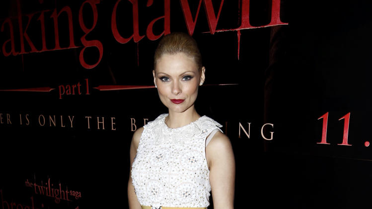 "MyAnna Buring arrives at the world premiere of ""The Twilight Saga: Breaking Dawn - Part 1"" on Monday, Nov. 14, 2011, in Los Angeles. (AP Photo/Matt Sayles)"