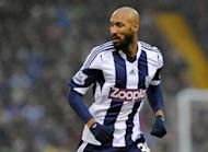 Former West Bromwich Albion striker Nicolas Anelka looks on during the Premier League match between West Bromwich Albion and Newcastle United at The Hawthorns in West Bromwich on January 1, 2014