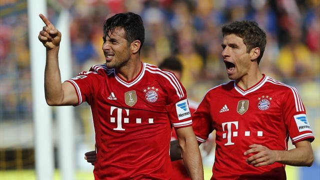 Bundesliga - Lacklustre Bayern edge past Braunschweig as Real await