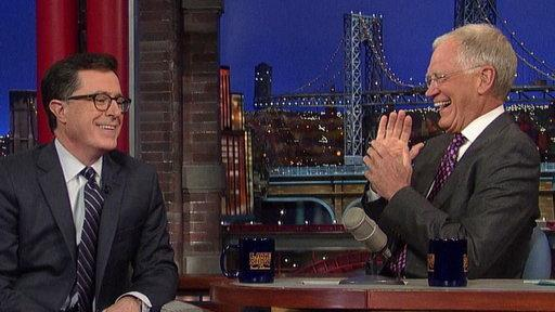 Stephen Colbert Tells David Letterman His Plan for 'Late Show'