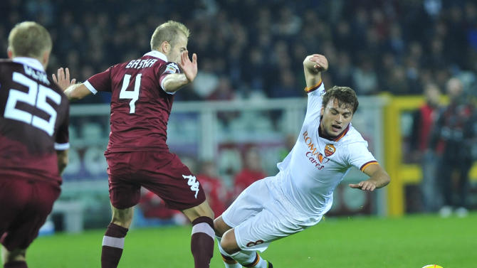 Roma's winning streak ends vs Torino in Serie A