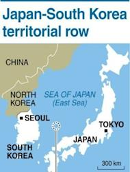 The disputed islands claimed by both Japan and South Korea in the Sea of Japan (East Sea). Japan may halt summit meetings with South Korea, a report said Tuesday, as a diplomatic spat between the neighbours worsened and Seoul called on the Japanese emperor to apologise for past atrocities
