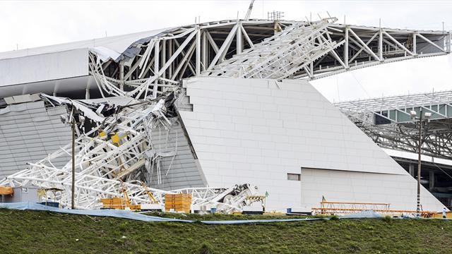 World Cup - Blatter prays to God over April date for Sao Paulo stadium
