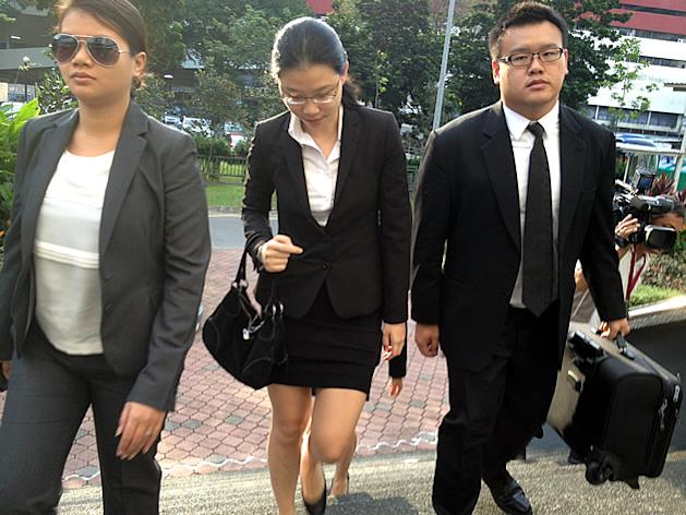 Darinne Ko arrives at the Subordinate Courts on Tuesday, 15 January 2013. (Yahoo! photo)