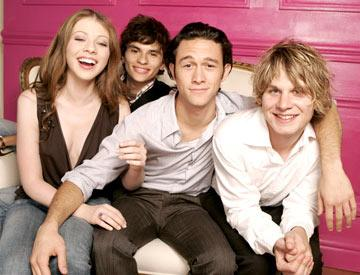"Michelle Trachtenberg, Jeffrey Licon, Joseph Gordon-Levitt and Brady Corbet 2004 Toronto International Film Festival - ""Mysterious Skin"" Portraits"