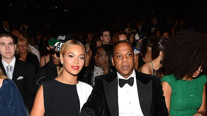The 55th Annual GRAMMY Awards - Backstage And Audience: Beyonce and Jay-Z