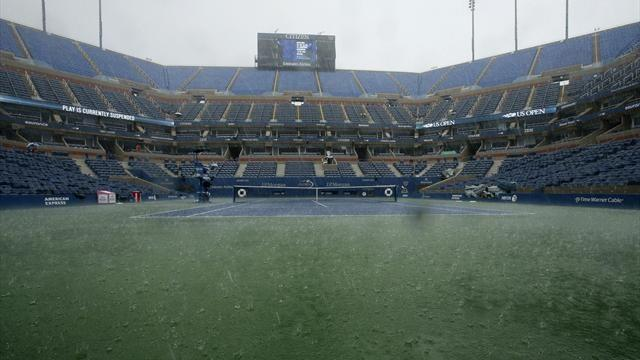 US Open - Torrential rain plays havoc with schedule at US Open