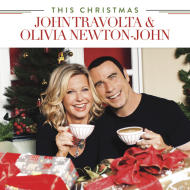 "This CD cover image released by Universal Music Enterprises shows ""This Christmas,"" a holiday album with John Travolta and Olivia Newton-John. (AP Photo/Universal Music Enterprises)"