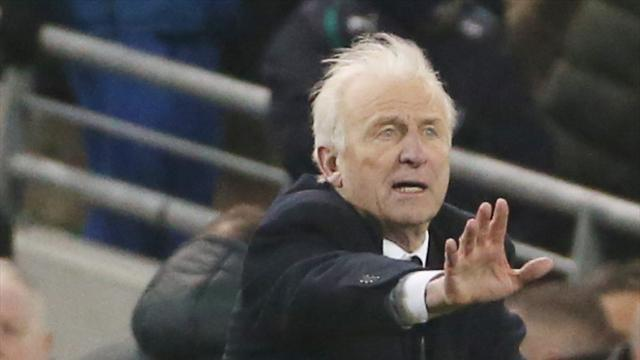World Cup - Trapattoni dejected after late leveller