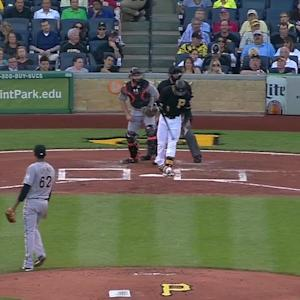 Urena's first strikeout
