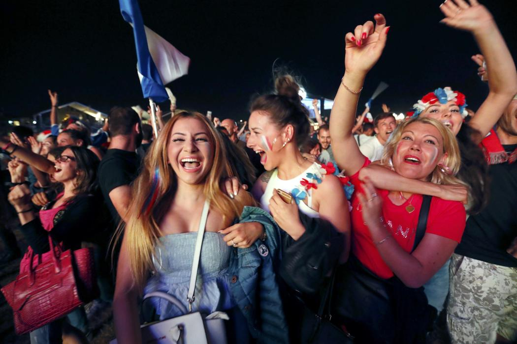 France fans react during the EURO 2016 soccer match in Marseille