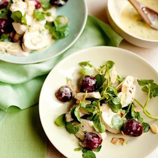 Salad of Chicken, Cherries, Watercress and Almonds With Tarragon: Recipe