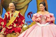 "Leo Tavarro Valdez (King), together with Monique Wilson (Anna) of the musical ""The King and I"". (NPPA Images)"