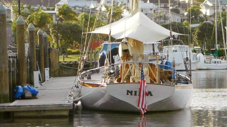 In this undated photo provided by Maritime New Zealand, the yacht Nina is tied at dock at a unidentified location. Searchers said Thursday, June 27, 2013, they have grave concerns for seven people aboard the American schooner that has been missing for three weeks between New Zealand and Australia. (AP Photo/Maritime New Zealand) EDITORIAL USE ONLY