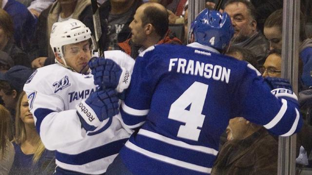Ice Hockey - Leafs out of slump with win over Lightning