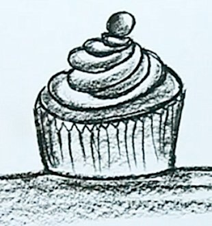 A cupcake drawing can male you feel better