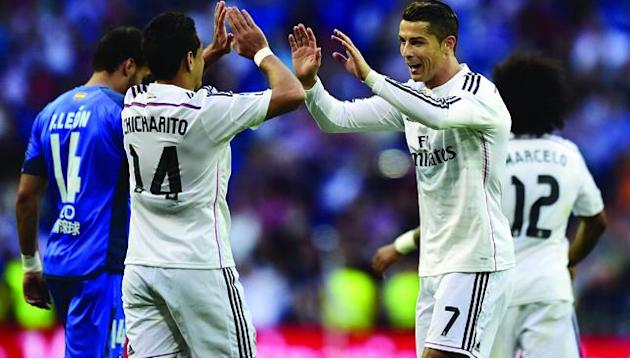 Cristiano Ronaldo scores hat-trick as Real Madrid thrash Getafe