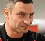 Ukrainian world boxing champion Vitali Klitschko, seen here in February 2012, has urged western politicians not to follow appeals for a boycott of June's European championships in his homeland, but instead come to Euro 2012 matches