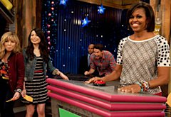Miranda Cosgrove,  Michelle Obama | Photo Credits: Lisa Rose/Nickelodeon