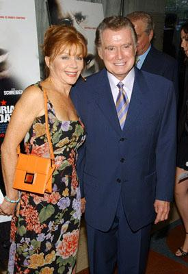 Premiere: Joy and Regis Philbin at the New York premiere of Paramount Pictures' The Manchurian Candidate - 7/19/2004