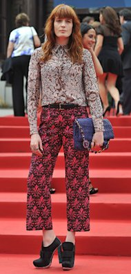 Florence Welch doubles up her Miu Miu prints at Venice Film Festival