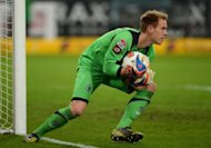 Moenchengladbach's goalkeeper Marc-Andre ter Stegen, seen here in action during their German first division Bundesliga match against Hamburg SV in the western German city of Moenchengladbach, on September 26. Gladbach play Borussia Dortmund next, on Saturday