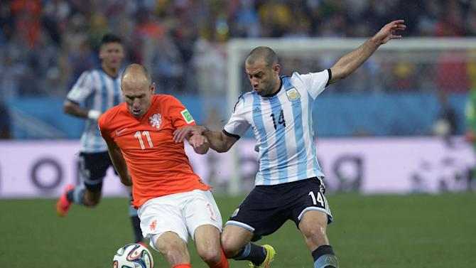 Mascherano, Zabaleta play on after blows to head