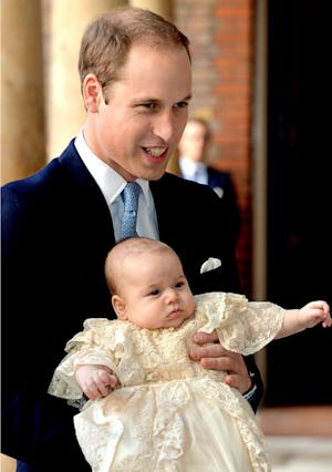 Prince George Blew Bubbles While Prince William Bounced Him at Christening