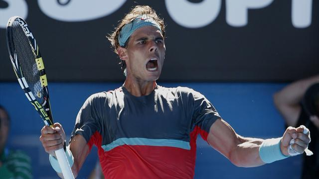 Australian Open - Out-of-sorts Nadal battles past Dimitrov into semis