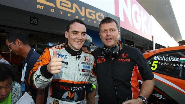 WTCC - Michelisz claims pole as rivals struggle