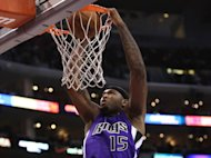 DeMarcus Cousins of the Sacramento Kings dunks against the Los Angeles Clippers at Staples Center on December 21, 2012 in Los Angeles, California. Cousins was suspended indefinitely by the NBA club on Saturday for unprofessional behavior and conduct detrimental to the team