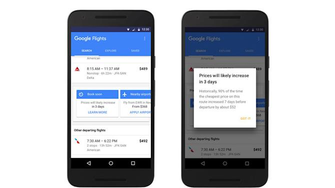 Your newest travel agent: Google Flights lets you know when airfare will spike