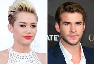 Miley Cyrus, Liam Hemsworth | Photo Credits: Jeff Bottari/Getty Images