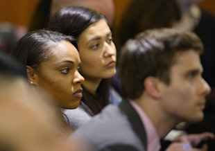 Shayanna Jenkins waits in the courtroom during the jury deliberation. (REUTERS)