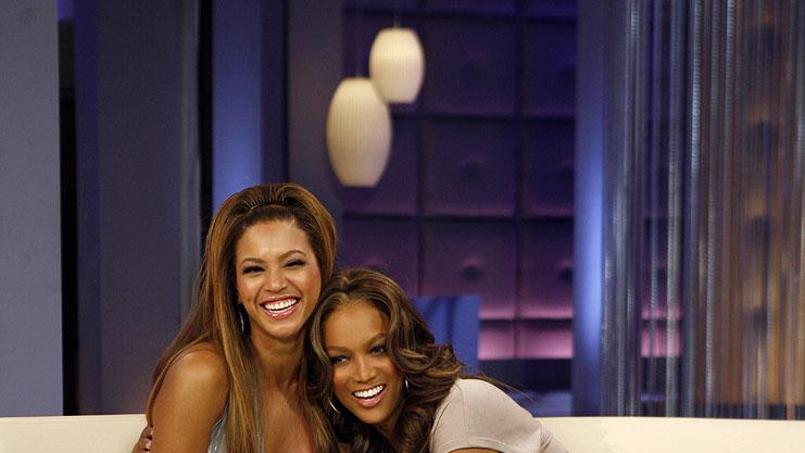 Beyonce Knowles visits The Tyra Banks Show on the CW.