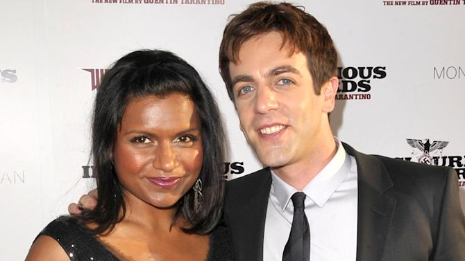 Mindy Kaling and B J Novak