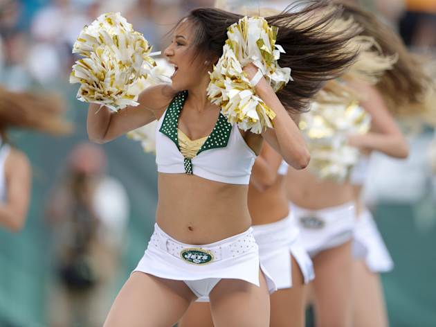 Jets flight crew cheerleaders
