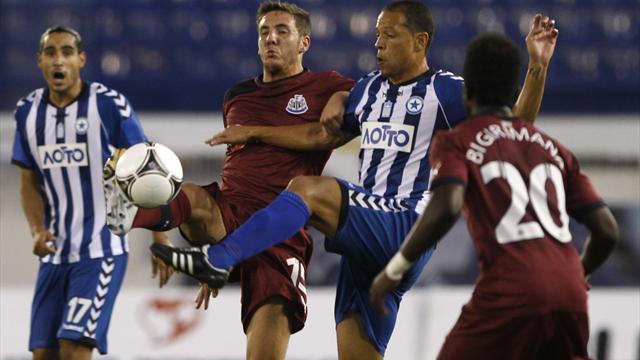 Newcastle held to Europa League draw in Athens