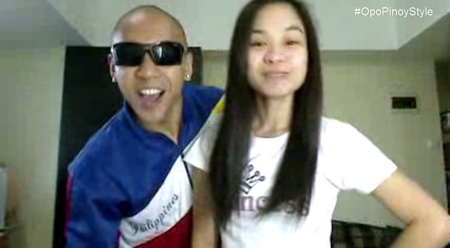 Paula Jamie Salvosa, who once drew online flak for berating a security guard, is now featured in another viral video, which rides on the global popularity of pop hit 'Gangnam Style' to highlight Pinoy pride. (Photo screengrabbed from YouTube video)