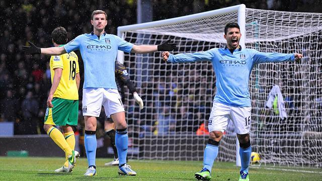 Premier League - Man City hold off Norwich in Carrow Road epic