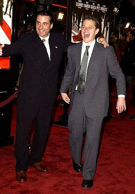Premiere: Andy Garcia and Matt Damon at the Westwood premiere of Warner Brothers' Ocean's Eleven - 12/5/2001